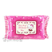 〔小禮堂〕Hello Kitty 附蓋濕紙巾《桃紅.玫瑰花》內有70抽手口濕紙巾 4715664-50375