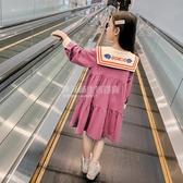 女童洋裝秋裝2020新款中大童女孩學院風洋氣長袖裙子兒童公主裙 設計師生活百貨