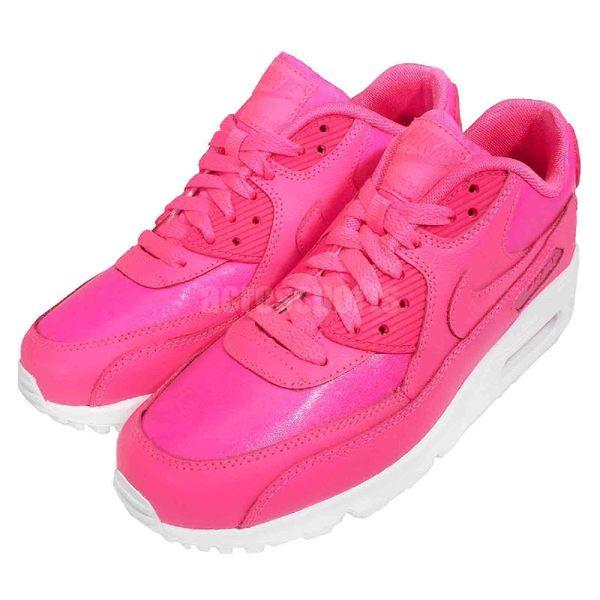 Nike 復古慢跑鞋 Air Max 90 LTR 粉紅 白 氣墊 運動鞋 休閒鞋 女鞋 大童鞋【PUMP306】 724852-600