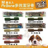 *WANG*Mr.Bone《多效潔牙骨M號單支入-五種口味可選擇》單支入 犬適用