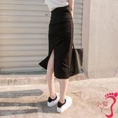 窄裙 包臀裙半身裙春夏秋冬季高腰中長裙女鉛筆裙開叉顯瘦一步裙