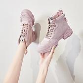 馬丁靴女鞋秋季潮鞋秋冬季秋鞋百搭英倫風加絨短靴-Milano米蘭