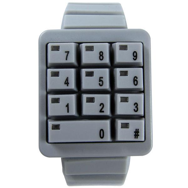 CLICK 創意爆破數字鍵盤個性腕錶(灰)
