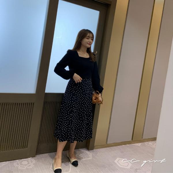 中大尺碼 方領泡泡袖上衣~共兩色-適XL~4L《 69121 》CC-GIRL