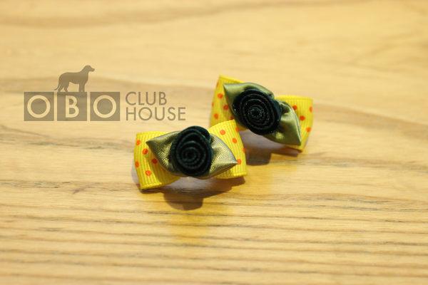 ★OBO CLUB HOUSE☆ 立體感玫瑰花頭飾 (彈力夾)
