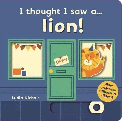 【幼兒操作拉拉書】I THOUGHT I SAW A LION 《主題:操作.迷藏遊戲 》