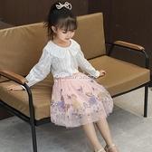 女童半身裙童裝2021新款夏季女寶寶網紗裙子公主短裙兒童蓬蓬裙潮 快速出貨