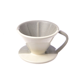 HOLA 協奏曲陶瓷咖啡濾杯 灰白