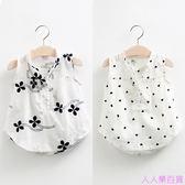 寶寶印花背心女 夏裝韓版新款女童童裝兒童無袖襯衫tx-5855