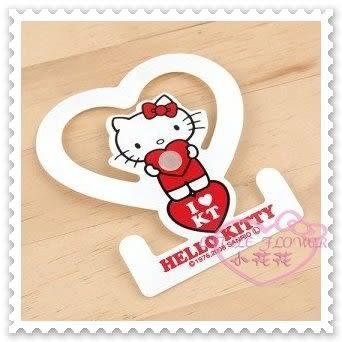 ♥小花花日本精品♥Hello Kitty 毛巾掛環毛巾架衛浴用品站姿抱愛心白色吸盤式日本限定 34026304