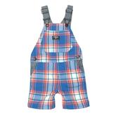 OSHKOSH 吊帶短褲 藍紅格子 | 男寶寶吊帶褲(嬰幼兒/小孩/baby)