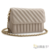 鍊帶包-法國盒子.復古仿舊造型斜紋二用包(共三色)745