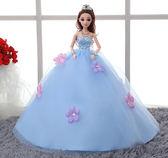 聖誕交換禮物-洋娃娃換裝芭芘比娃娃婚紗女孩公主豪華套裝大禮盒過家家洋娃娃兒童玩具