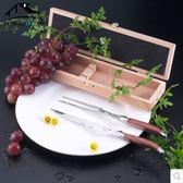 西餐餐具刀叉兩件套法國Laguiole木柄高檔西餐牛排刀叉TLTW-W012