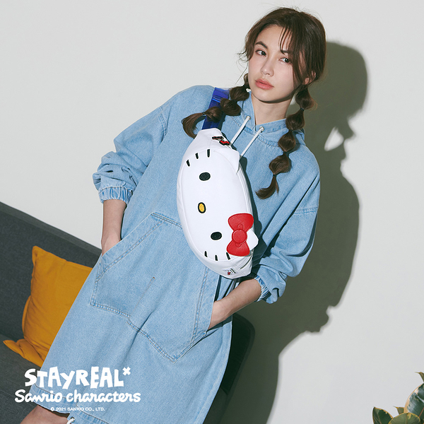 STAYREAL x Sanrio characters Hello Kitty潮流腰包