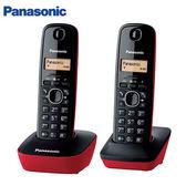 Panasonic國際 數位雙子機無線電話機KX-TG1612【愛買】