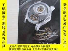 二手書博民逛書店佳士得香港2010春季拍賣會罕見Important watche
