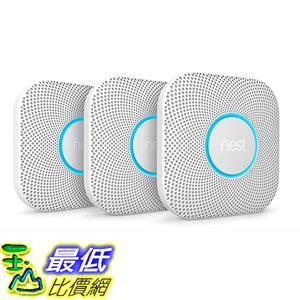[8美國直購] Nest Protect: 2nd Gen Smoke + CO Alarm 3-pack Bundle