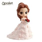 日本限定 Qposket 迪士尼公主系列 美女與野獸 貝兒 婚紗版 公仔模型 (一般色)
