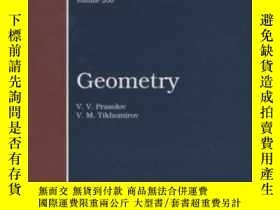 二手書博民逛書店Geometry罕見(translations Of Mathematical Monographs)-幾何學(數