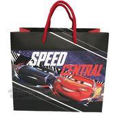 〔小禮堂〕迪士尼 閃電麥坤 方形手提紙袋《M.紅黑.藍賽車》包裝袋.送禮紙袋.手提袋 4714581-55238