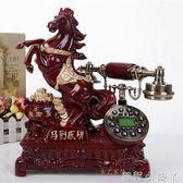 復古電話機仿古電話機歐式電話機高檔復古無線插卡創意固定有線家用座機 NMS蘿莉小腳丫