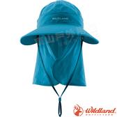 Wildland 荒野 W1038-46土耳其藍 中性可脫式功能遮陽帽 防曬工作帽/登山休閒帽/漁夫帽/大圓帽/抗UV*