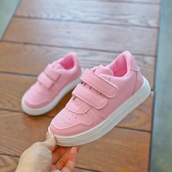 兒童小白鞋 透氣單鞋春夏季兒童白色運動鞋中大童學生白鞋女童板鞋-Ballet朵朵