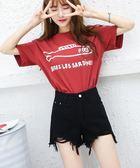 2018新款韓版學生高腰破洞毛邊黑色牛仔短褲女夏季寬鬆闊腿熱褲子 小巨蛋之家