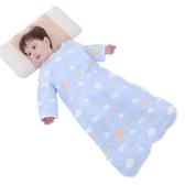 嬰兒睡袋兒童夏季空調房紗布睡袋四季通用蘑菇春秋薄棉寶寶防踢被 MKS免運