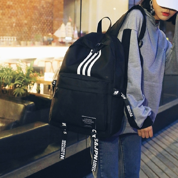 初中高中學生書包男女韓版原宿ulzzang校園簡約休閒旅行雙肩背包 交換禮物