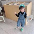 兒童寬鬆吊帶褲2020秋季新款韓版吊帶男女童寶寶洋氣牛仔九分褲 【雙十二狂歡】