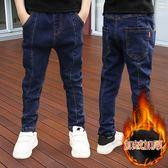 男童內刷毛牛仔褲 兒童褲子秋裝長褲