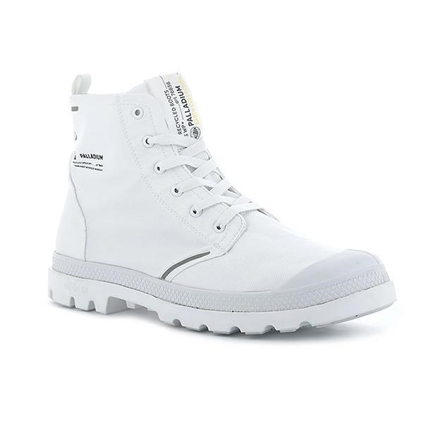 【南紡購物中心】【PALLADIUM】PAMPA LITE+ RCYCL WP+ 地球系列-橘標防水靴 / 極地白 男女鞋