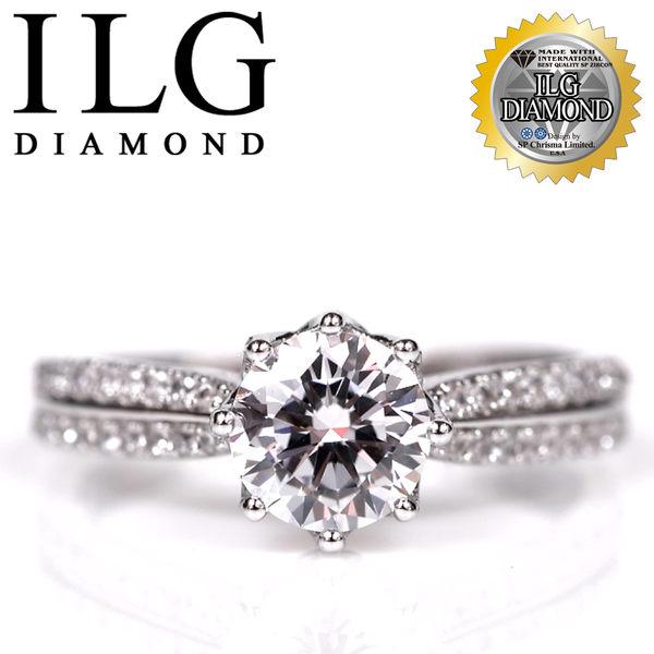 【頂級美國ILG鑽飾】八心八箭戒指-1.25克拉 北歐風情款 Ri102 大氣時尚 求婚送禮生日禮物