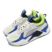 Puma 休閒鞋 RS-X Mix 白 藍 老爹鞋 男鞋 復古慢跑鞋 老爹鞋 厚底 【ACS】 38046205