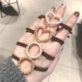 髮圈-韓國氣質款珍珠愛心束髮帶 髮圈 洗臉髮帶 手鍊【AN SHOP】