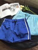 夏季日系男士短褲寬鬆休閒五分褲運動沙灘褲【聚寶屋】