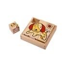 玩偶的家PlayMe 寵物拼圖-動物圖案六面積木拼圖 比漾廣場