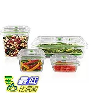 [美國直購] FoodSaver FA4SC35810-000 真空密鮮盒 萬用組(4入) Vacuum Sealed Fresh Containers