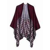 仿羊絨披肩-千鳥紋漸層變色雙面女圍巾4色73we16【巴黎精品】