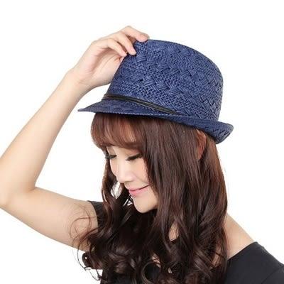 爵士帽-夏季遮陽沙灘草帽流行女禮帽5色71k87【巴黎精品】
