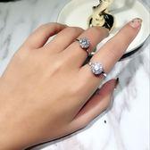 戒指 S925純銀潮人網紅抖音同款轉運旋轉戒指微鑲滿鑽時尚簡約開口飾品  酷動3C