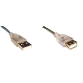 i-wiz USB2.0 A公 A母 透明延長線50CM