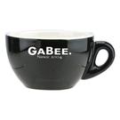 金時代書香咖啡 GABEE. 20號蛋形卡布杯盤組 180cc黑HG0854BK-1