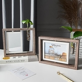相框 北歐風創意木質旋轉相框擺台辦公室桌面房間裝飾品擺件個性禮物