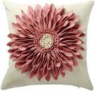 OiseauVoler【日本代購】靠墊套 坐墊套 抱枕套 手工製作 3Dflower 2件套 - 粉色