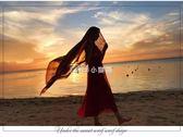海灘披肩旅游拍照大絲巾度假圍巾超大防曬披肩女秋海邊沙灘巾海灘巾大紗巾走心小賣場
