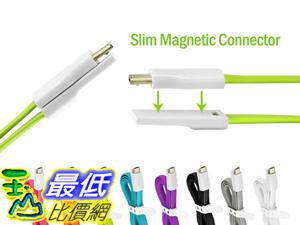 [106美國直購] Tangle-Free 數據線 Magnetic OPPO X9076 Ultra Portable Flat Charging and Data MicroUSB Cable