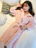 睡袍睡袍珊瑚絨浴袍男士浴衣法蘭絨睡衣 交換禮物